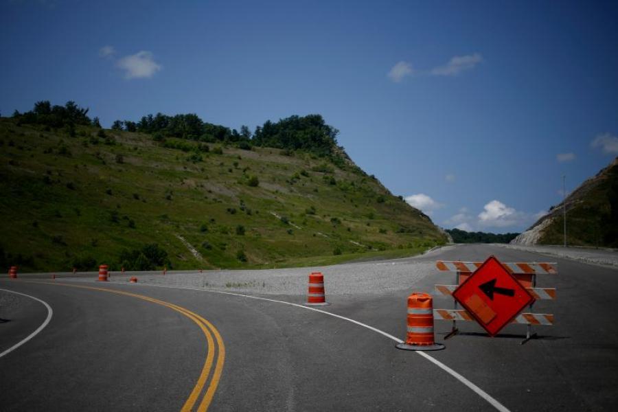 A segment of highway under construction near Elkhorn City, KY.