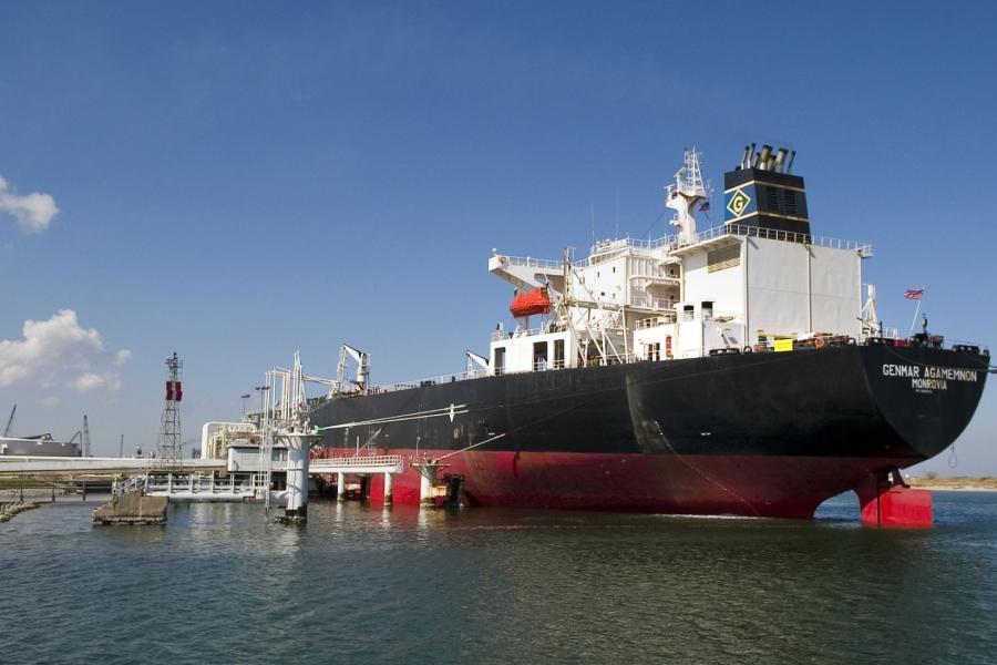 An oil tanker in Corpus Christi, Texas.