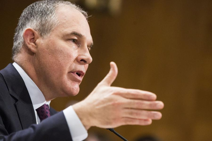Oklahoma Attorney General Scott Pruitt, nominee to be administrator of the Environmental Protection Agency, at a Senate Environment and Public Works Committee confirmation hearing.