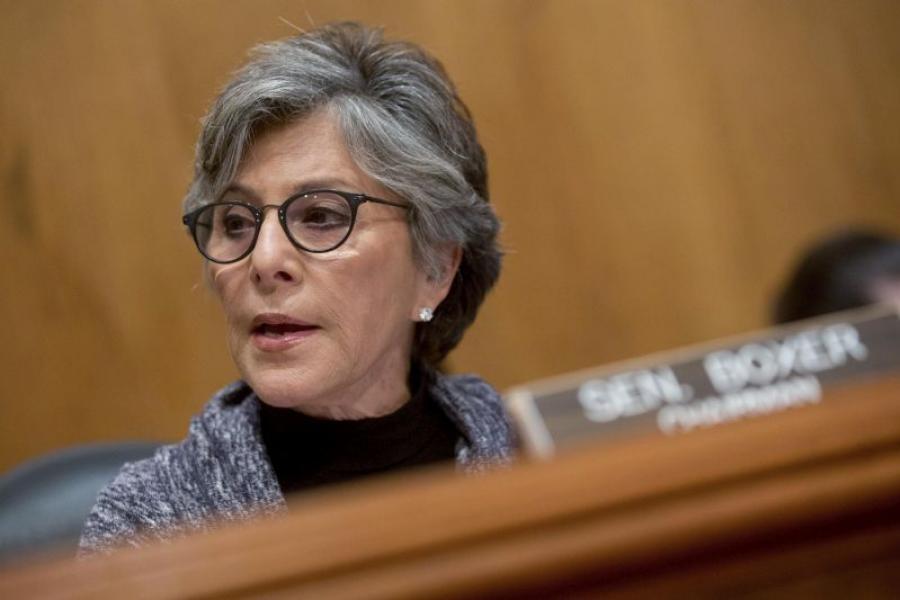 Senator Barbara Boxer (D-Calf.)