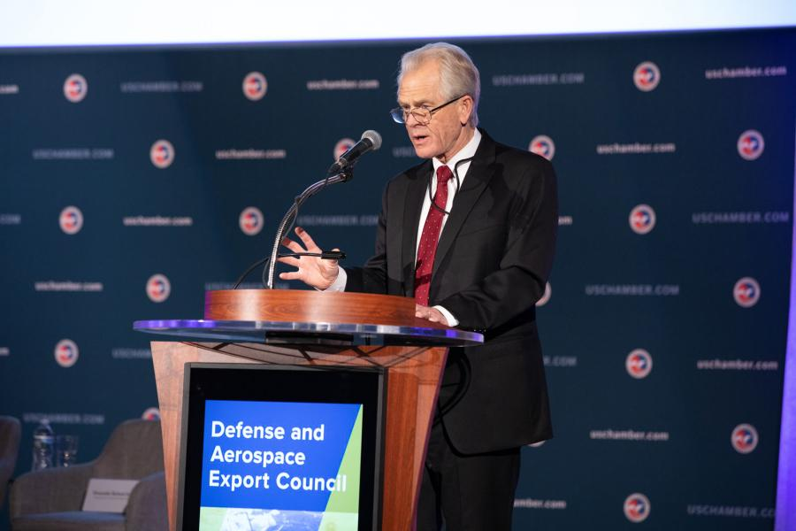 Dr. Peter Navarro, Director of the White House Office of Trade and Manufacturing Policy, explains the administration's new Conventional Arms Policy is a way for the U.S. to boost exports to markets dominated by countries like China and Russia.