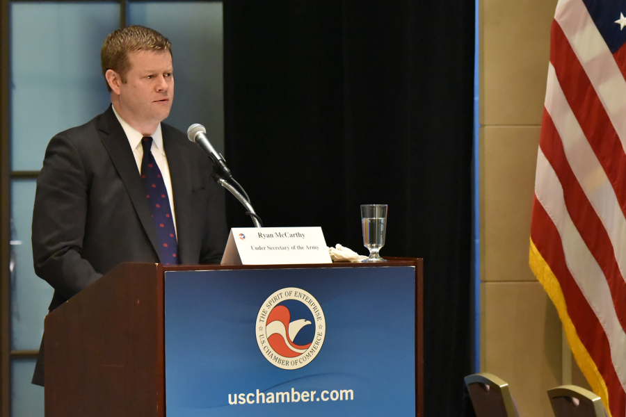 Under Secretary McCarthy delivers a keynote to the Chamber's Procurement Council