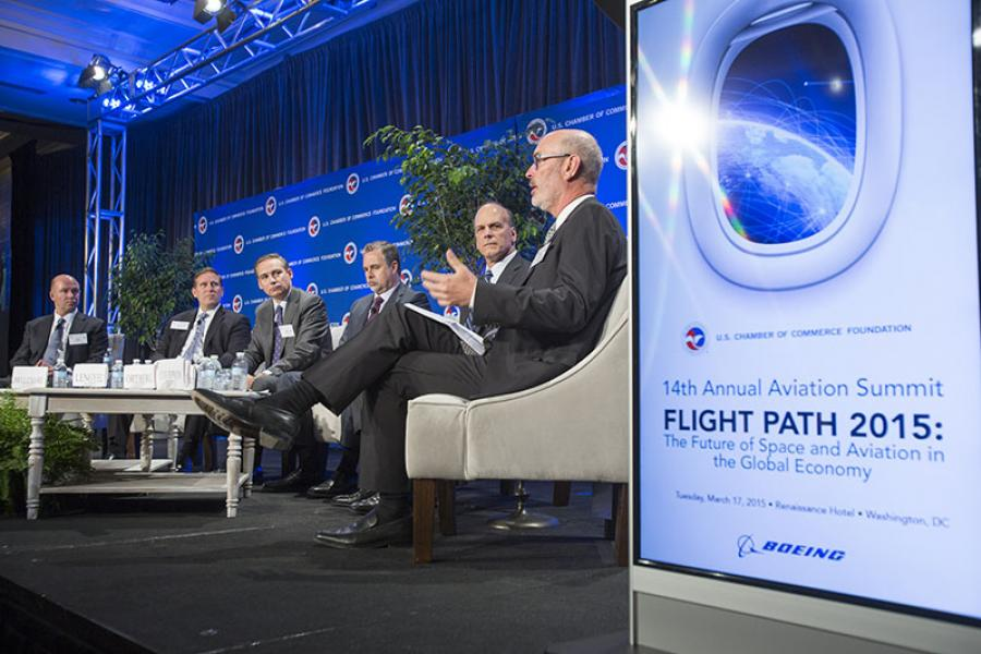 he U.S. Chamber of Commerce Foundation hosts the 14th Annual Aviation Summit, Flight Path 2015: The Future of Space and Aviation in the Global Economy in Washington, DC, USA on March 17, 2015. Photo by Ian Wagreich / © U.S. Chamber of Commerce