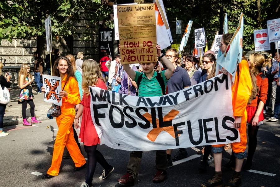 Fossil fuel protesters in London, U.K.