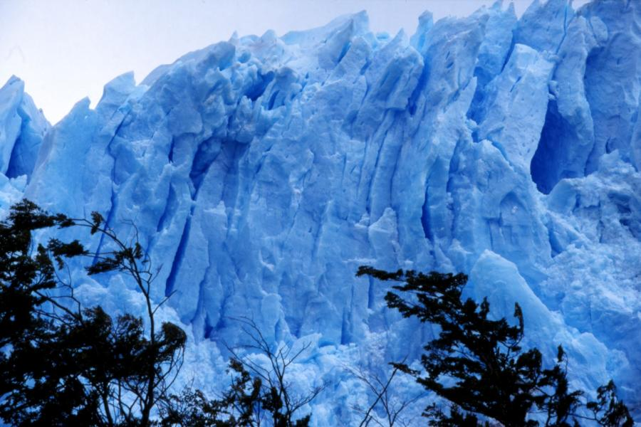 Ice wall in Argentina.