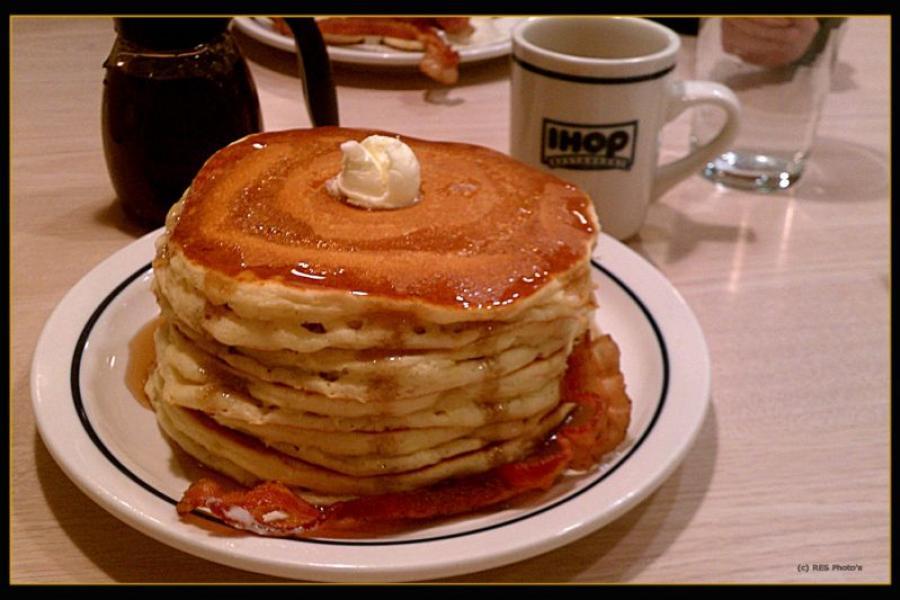 Stack of IHOP pancakes.