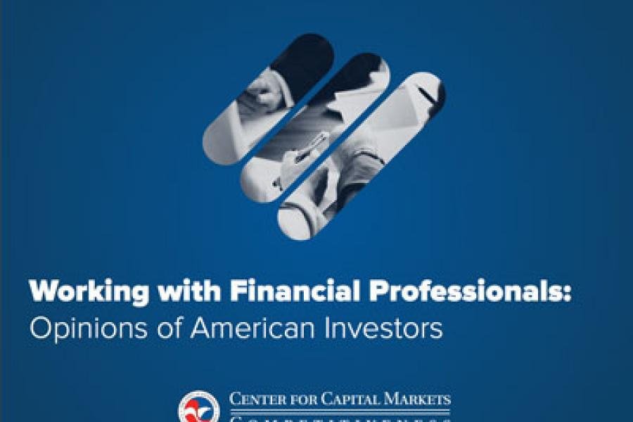 Cover image for the Investor Polling report done by the U.S. Chamber of Commerce
