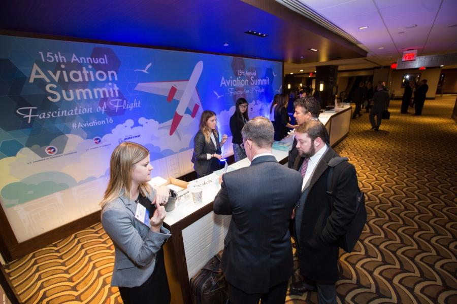 Registration at 2016 Aviation Summit