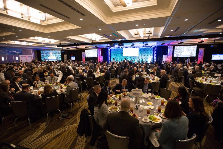 Conference ballroom at 2016 Aviation Summit