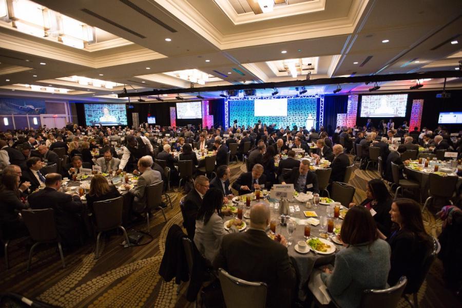 Conference ballroom at 2016 Aviation Summit