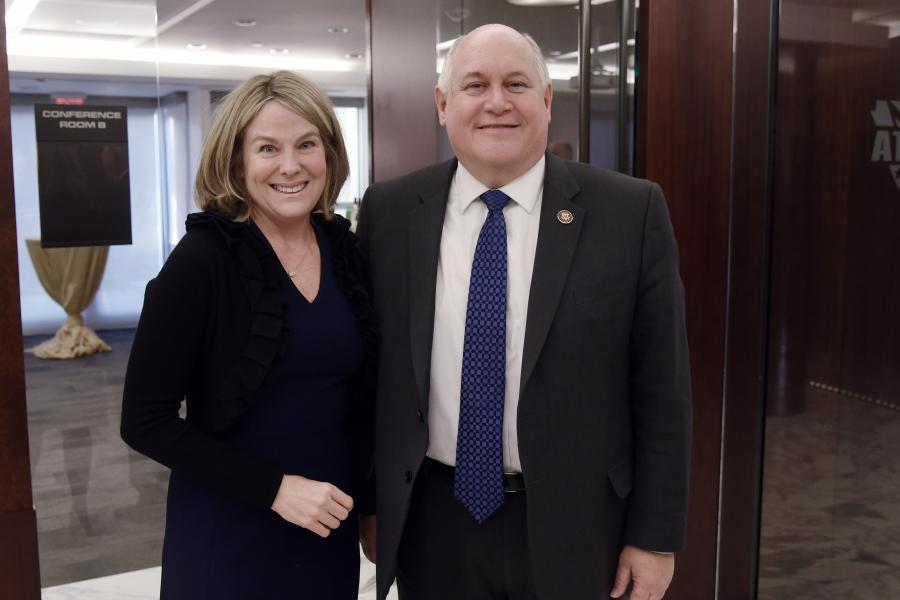 The Chamber's Congressional & Public Affairs division's Vice President Ashley Wilson with Rep. Ron Estes (KS-4).
