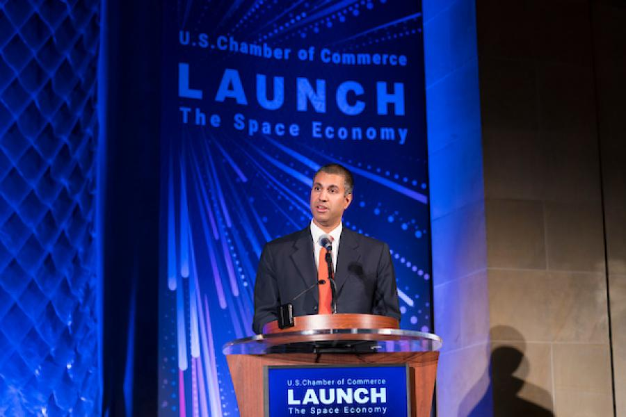 Chairman Pail discusses Space Based Communications and Future of the American Economy