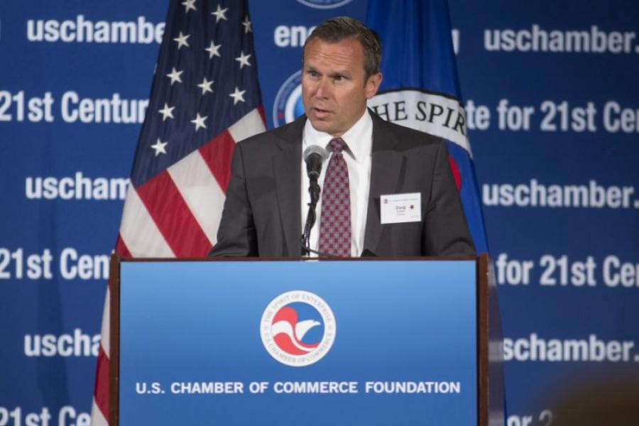 Encana President and CEO Doug Suttles, speaks at the U.S. Chamber of Commerce Foundation's CEO Leadership Series.