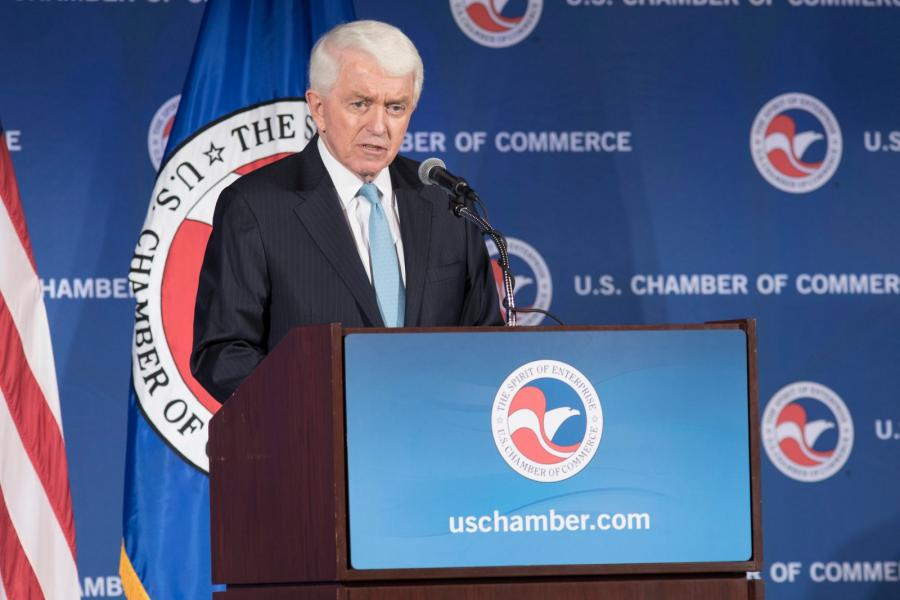 U.S. Chamber and CEO Tom Donohue.