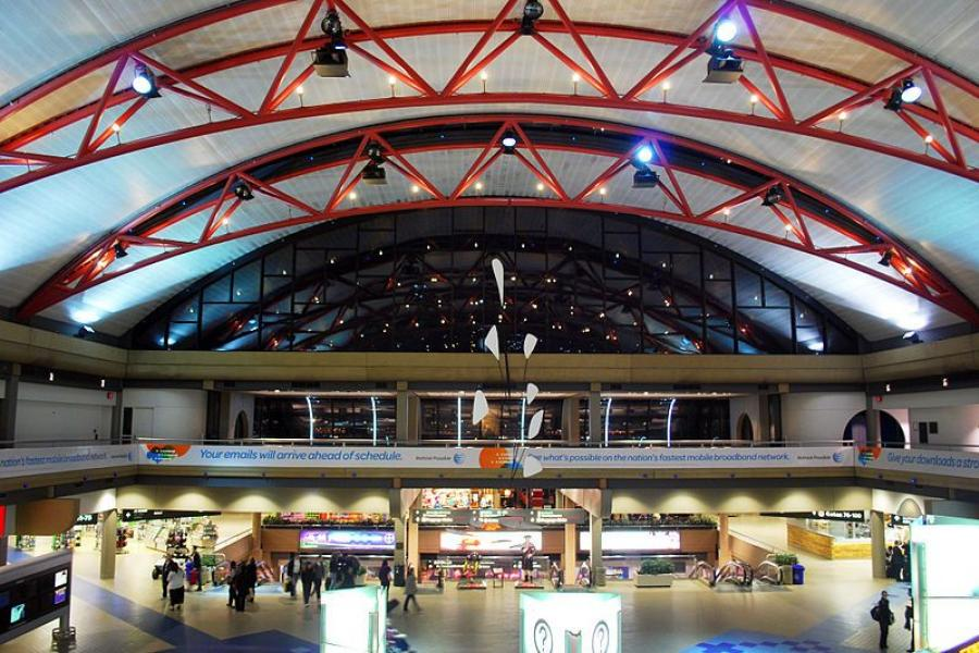 Interior of Pittsburgh International Airport