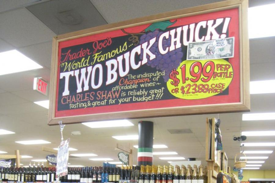 Trader Joe's Two-Buck Chuck wine