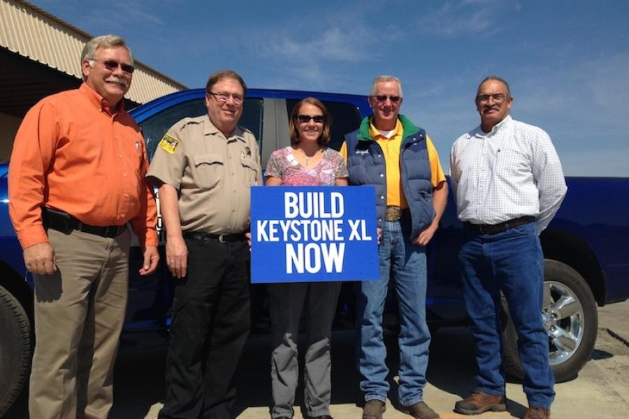 Supporters of the Keystone XL pipeline in Winner, South Dakota.