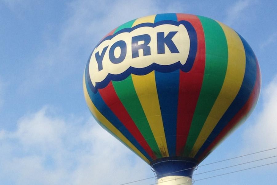 York, Nebraska water tower