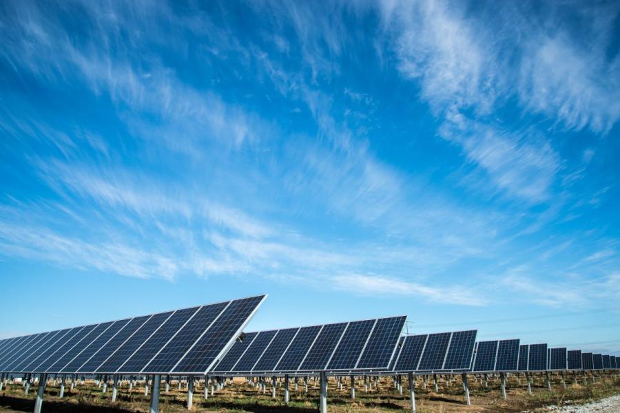 Solar energy farm in Nebraska.