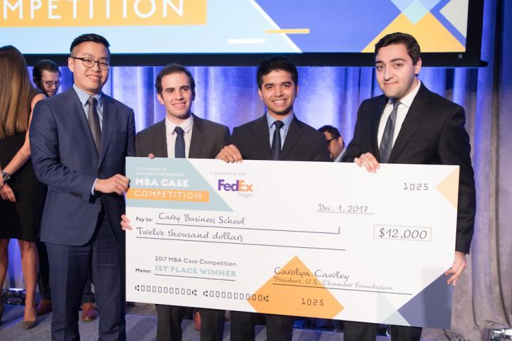 Photo of the 2017 MBA Case Competition Winners