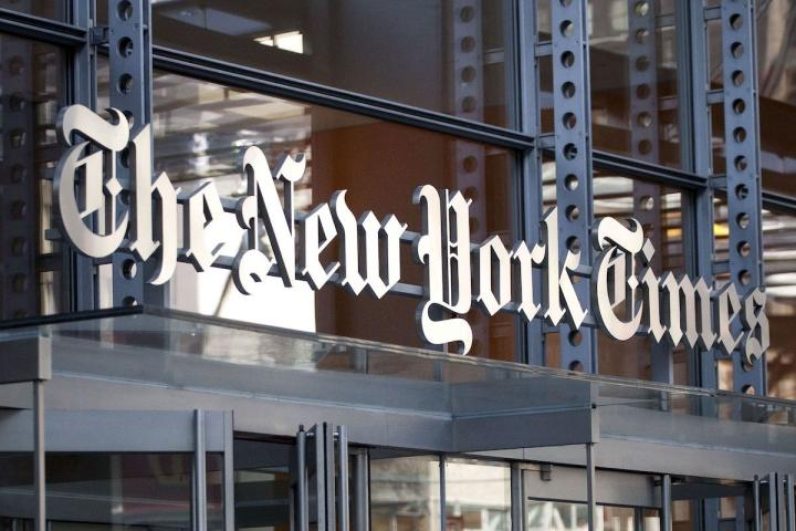 New York Times building in New York City.