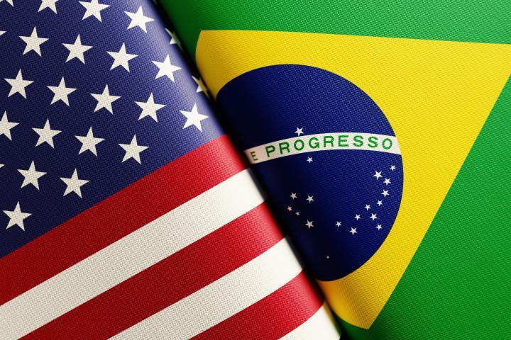 U.S. & Brazil Flags