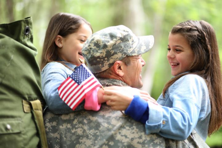 HOH Military Spouse Employment Program - Soldier reunited with family