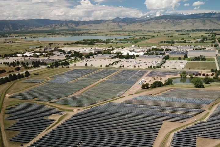 Solar array at IBM's Boulder, Colorado, facility.