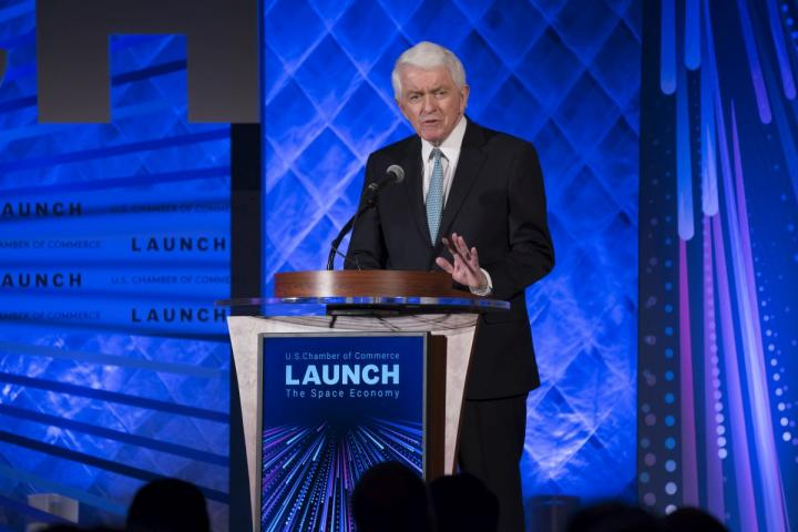U.S. Chamber CEO Tom Donohue speaks at the 2nd Annual Space Summit, LAUNCH: The Space Economy.
