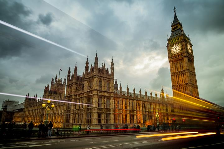 Big Ben and the Houses of Parliament in London, England.