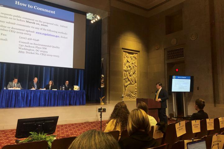 Jordan Crenshaw, Public Hearing On NEPA