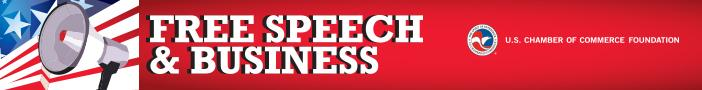 Free Speech and Business Banner