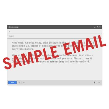 Voter Sample Email