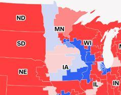 CNN map of 2018 House midterm races in the Midwest.
