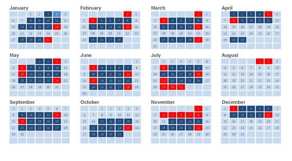 2019 Congressional Calendar