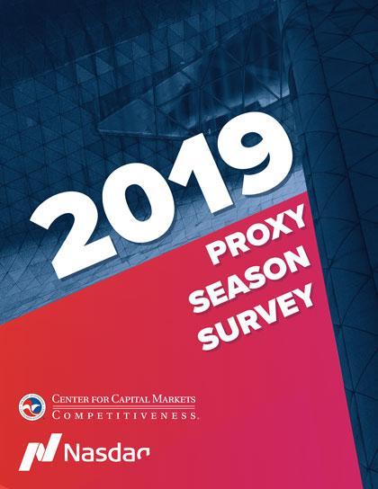 2019 Proxy Survey Report Cover