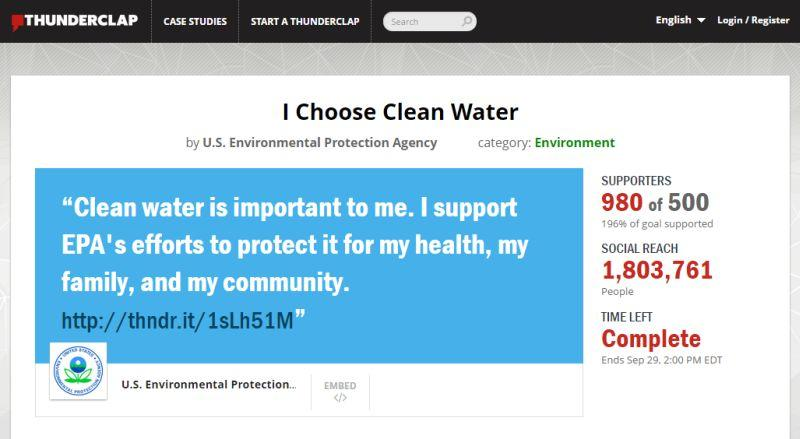 EPA WOTUS Thunderclap social media campaign