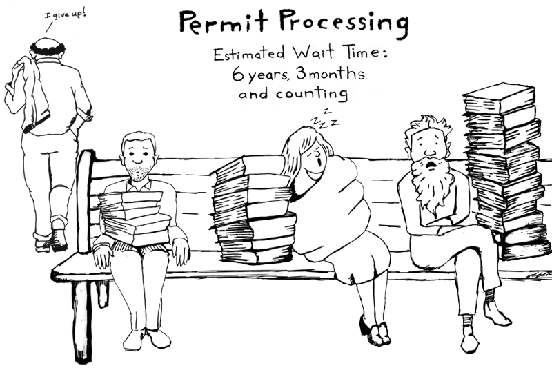 permitting streamlining cartoon