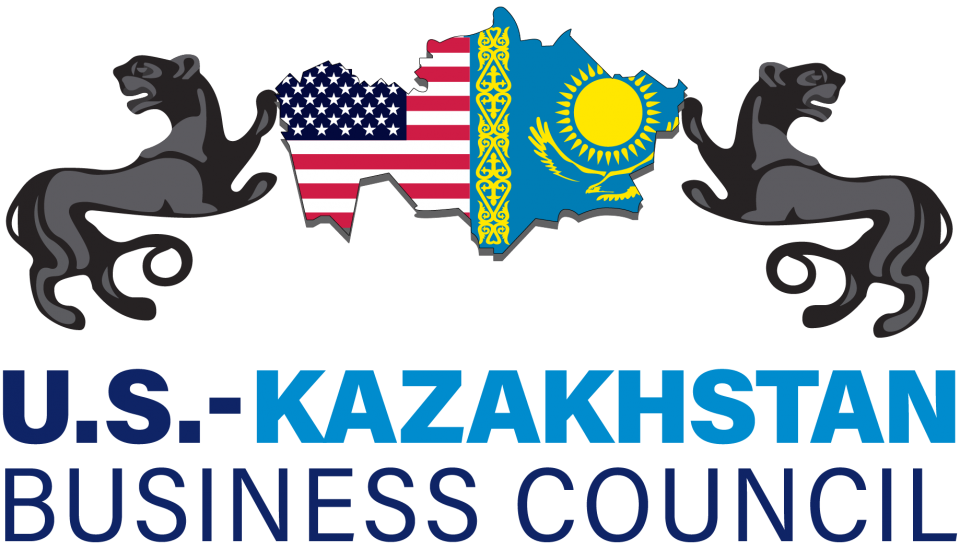 U.S. Kazakhstan Business Council Logo - Flags and outline of the country