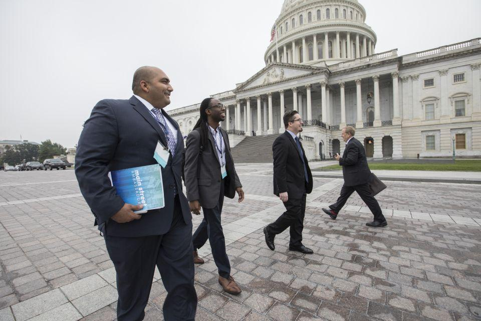 Small business owners visiting Members of Congress on Capitol Hill.