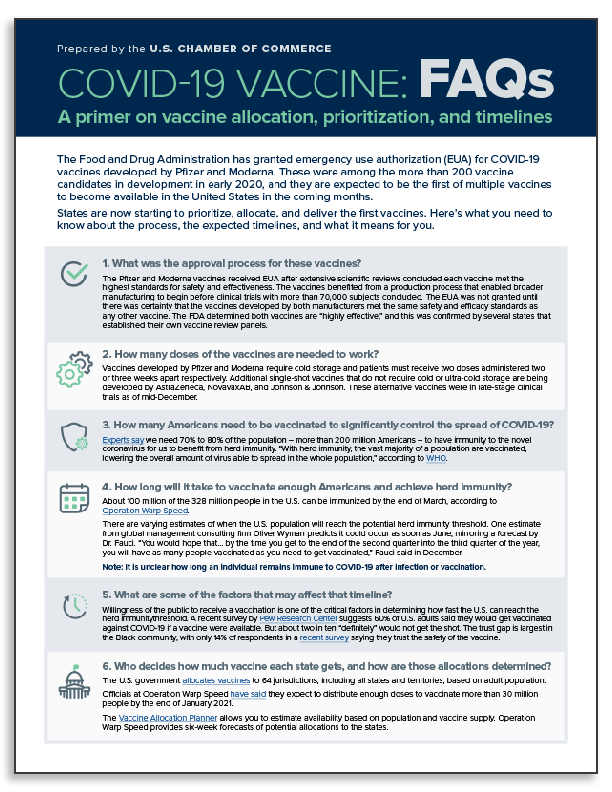 COVID Vaccine FAQ One pager teaser image