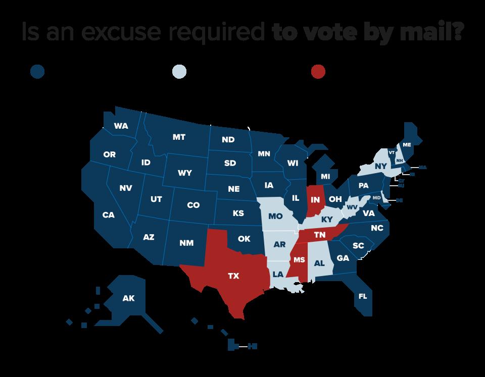 map of absentee ballot rules