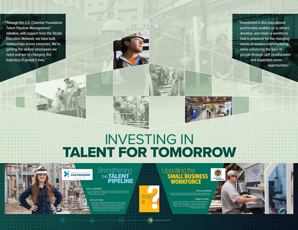 """""""Building the Workforce of the Future"""" talent pipeline display"""