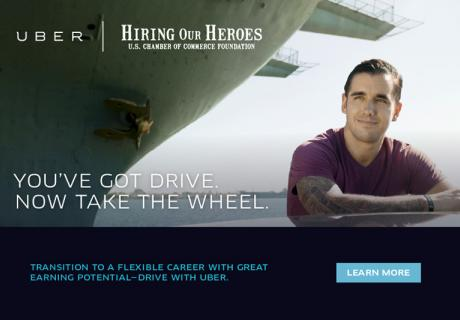 Uber is partnering with Hiring Our Heroes