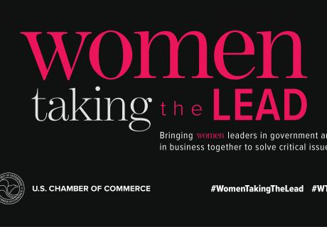 Women Taking the Lead March Reception Graphic