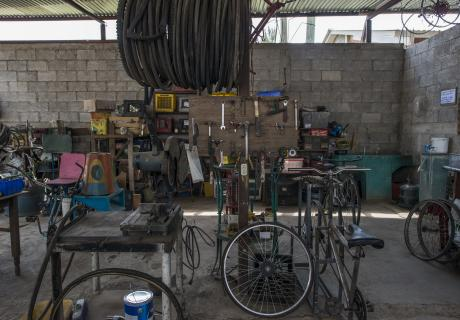 "San Andres, Iztapa, Guatemala, ""Bicimaquinas"" built from bikes donated from the U.S./Canada. Photo: Daniele Volpe/Bloomberg"