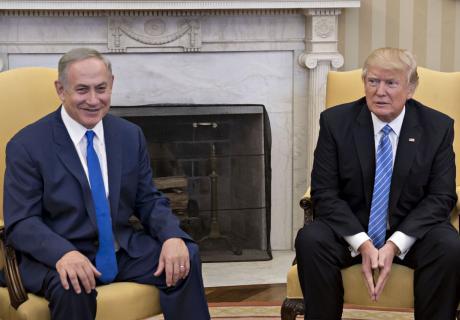 President Donald Trump meets with Israel Prime Minister Benjamin Netanyahu.