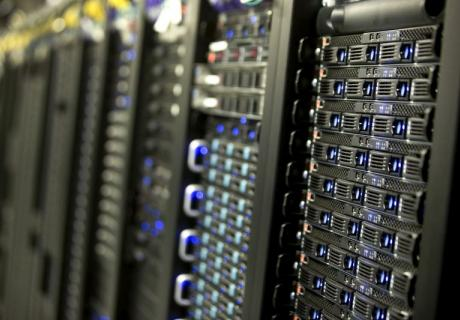 Servers in a Yahoo data center in Lockport, New York.