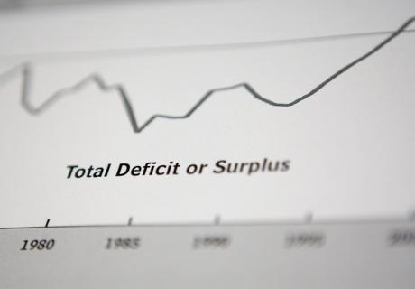 Total deficit or surplus