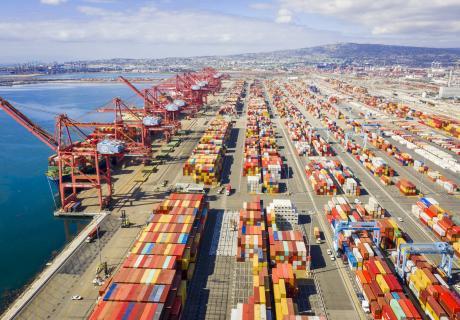 Shipping dock, California